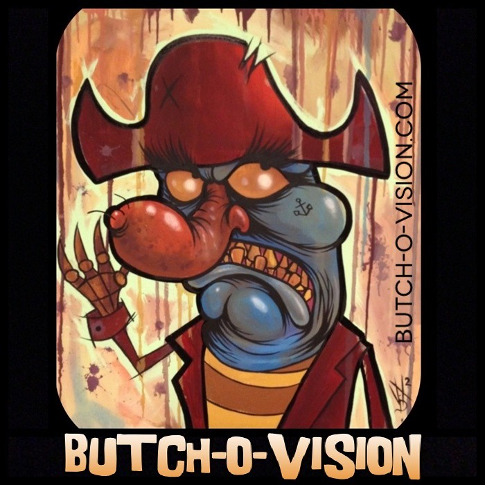 Knuckles Painting In Butch O Vision Artwork Flapjack Art Cartoon Network