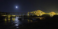 North Queensferry & Forth Rail Bridge (BusterBB001) Tags: longexposure tourism water night scotland boat edinburgh capital transport bridges scottish railway poppy royalmile forthroadbridge waterscape railbridge rememberence