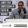 Jamie Foxx  Confession of Faith in     Obama    Jerusalem Prayer Team Article