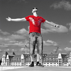 On the edge of a red daydream (mikael_on_flickr) Tags: gay red bw men guy rot me oslo manipulated self ego rouge opera edited manipulation moi bn io mel uomo rd sh rosso ich hombre homme mec daydreaming mikael menn sogni i headtotoe intero osloopera reddaydreaming
