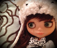 This Blythe Fifth Avenue hat makes Zoey beary happy