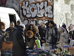 Stuff (Sven Loach) Tags: uk winter cold london graffiti nikon market britain candid hats streetphotography documentary sunny bowl things used stuff headphones colourful multicultural wooly ethnic bricklane sundays drill reportage eastlondon koch enaglnd d5100
