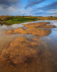 Loire River- Colors of Loire (explorerviews.de) Tags: france reflection nature water river landscape mirror sand frankreich allier loire banks auvergne bourbonnaise