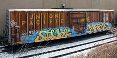 Silk Maple (The Braindead) Tags: street snow art car minnesota train bench photography graffiti maple box painted tracks silk minneapolis twin rail explore beyond uc crushers tci the braindead cites
