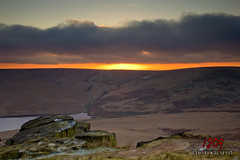 The Sun Goes Down (Ashey1209) Tags: sunset lake cold ice water clouds landscape rocks cloudy moors icy nationaltrust buckstone