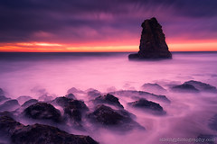 DAVENPORT III (Silent G Photography) Tags: california ca longexposure sunset bw santacruz blur beach coast nikon pacific wideangle le lee nd polarizer davenport 2012 hoya d800 reallyrightstuff rrs neutraldensity gradnd 10stopndfilter markgvazdinskas silentgphotography silentgphoto