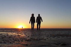 Montalivet (denismartin) Tags: denismartin girondeestuary gr gironde montalivet beach sand sea seashore seaside tide ocean atlanticocean aquitaine weather sun sunset sunsetlight two people france summer