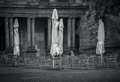 The One Who Waited (thewhitewolf72) Tags: caf restaurant zwinger dresden mann kaffee altemeister museum allein warten lesen schirme hof gehstock zeitung