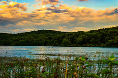 Southshore (david_sharo) Tags: davidsharo moraine landscape lakes clouds artistic water kayak forest trees sky sunset
