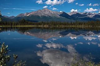 Early morning at a lake along the Alaska-Canada Highway...