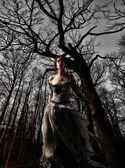 Queen of the forest night (Jack Maegli) Tags: ghost night forest emo gothic female portrait
