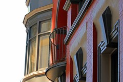 Corner View (Bad Kicker) Tags: window architecture apartment curvedglass balcony whitebackground urban