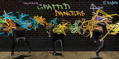 Rainbow Graffiti Dancers (colemariesoleil) Tags: cosmopolitan secondlife sl particles particle lights special effects coles corner graffiti rainbow dancer dancing dance
