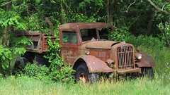 Autocar Dump Truck (Larry Myhre) Tags: autocar truck vintage rusty northfield massachusetts abandoned nyctrivtjune2016