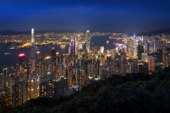 Hong Kong Skyline (scotthnyc) Tags: hongkong skyline city canon tse tiltshift sun evening morning dawn dusk architecture skyscrapers hk