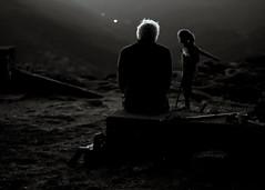 Regrets (Kevin STRAGLIATI) Tags: ardche night girl monochrome france hiking lokey mountain tourdebrison bw oldman play hair
