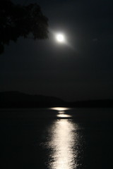 Over Loch Linnhe (Julie Rutherford1) Tags: moon reflection water night sea outline shimmer linnhe loch