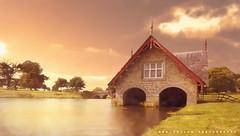Carton Boathouse (Ben Sollis) Tags: landscape ireland sunrise boathouse house building kildare sun clouds exposure