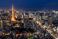 Tokyo by Night (francesco.chilelli) Tags: tokyo japan nippon stadt city cityscape night nacht lights longexposure langzeitbelichtung nikon urban architecture architektur panorama tokyotower