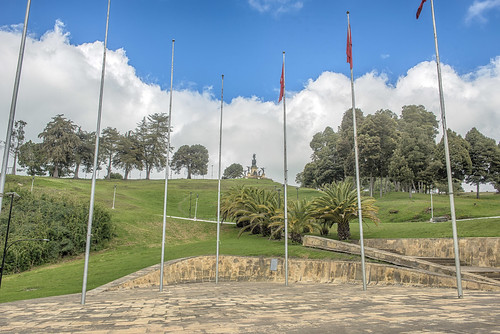 Monument for the Battle of Boyaca (August 1819) which resultat in the independence of Colombia from the Spanish Monarchy