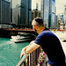 Justin Dauer at the Chicago River
