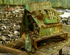 Cash register (Dave and Jodi Piddington) Tags: chernobyl ukraine holiday decay abandonedbuildings death history nucleardisaster accident travel dark tourism darktourism photography architecture nuclear disasters adventure kiev blackandwhite