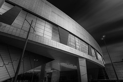 Today we are all demons (blondmao) Tags: burgundy building bnw bourgognefranchecompt opradedijon bourgogne clouds longexposure auditoriumdedijon ctedor dijon sky architecture dark blackandwhite 13stopper france