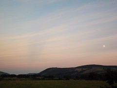 Evening moon (crunklygill) Tags: isleofman bankholiday august 2016 sunny contrasts manx coast coastalpath raadnyfoillan