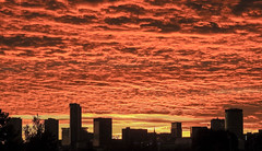 City Sunset (Mickyg2010) Tags: clouds birminghamsunset sky formations england birmingham colour cityscape city silhouette sunset sunsets sun skyline outdoor cloud dusk serene