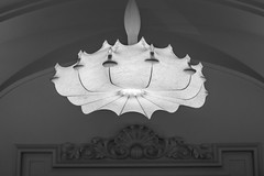 Spiderweb lights (Jan Moons) Tags: madrid spain nhhoteles abascal nhcollectionabascal light chandelier spiderweb bw