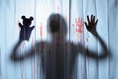 The cut throat world of children's entertainment (Apionid) Tags: shower murder blood glovepuppet horror werehere hereios nikond7000 366the2016edition 3662016 day261366 17sep16 clich