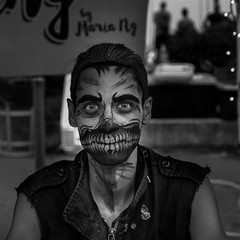 Face Painter, Hoboken NJ (RobMatthews) Tags: facepainter newjersey hoboken italianfestival miscstuff