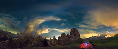 [5 torri] (Ennio Pozzetti) Tags: italy dolomites mountains night stars ferrino tent panorama clouds light sky milkyway mood travel travelphotography dolomiti italia