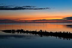 Sonnenuntergang Spieka-Neufeld (spotterblog) Tags: abend licht natur nordsee spiegelung wasser watt ngc orange rot tamron tamron1750mmf28diiia16 canon eos 70d