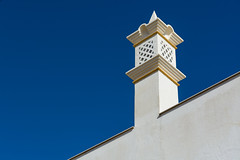 Architectural Abstract #1 (Yannis_K) Tags: yannisk nikond7100 nikon1685mmf3556gvr architecture abstract lines shapes texture detail urbandetail colours colors blue white minimal minimalistic chimney portugal algarve