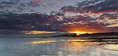 Sinking sun (Through Bri`s Lens) Tags: sussex worthing worthingpier rampionwindfarm clouds sky brianspicer canon5dmk3 canon1635f4