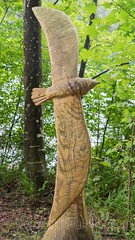 Mwe Wood Sculpture, Emmen, Lucerne, Switzerland (jag9889) Tags: sculpture jag9889 seagull reuss 20160727 wood publicart centralswitzerland switzerland emmen outdoor 2016 europe igemmenimwald cantonlucerne alpine art artist ch carver figurenweg forest foresttrail helvetia holz holzskulpturenweg innerschweiz interessengemeinschaft kantonluzern lu landscape lucerne luzern reussuferweg riverbank schnitzer
