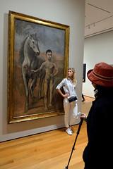 Woman Leading Boy Leading Horse (Eddie C3) Tags: newyorkcity manhattan midtownmanhattan museums museumofmodernart art