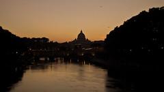 Sunset (Diego Innocenti) Tags: hs20 hs20exr rome roma italy italia sunset sanpietro vatican vaticano vaticancity river tevere fiume stream reflex water evening color orange