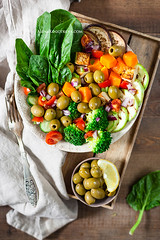 Buddha Bowl with Tomato Salsa (AlenaKogotkova) Tags: buddhabowl salsa vegetables olives pumpkin healthy food foodphoto foodstyling vegan vegetarian