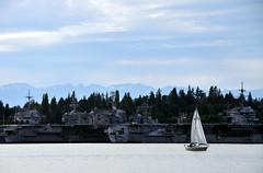Sail with warships (MelindaChan^^) Tags: sea usa water boat washington ship mel sail bremerton melinda warship    chanmelmel melindachan