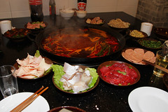 Sichuan Spicy Hotpot (Dave 2x) Tags: china food chili spam tofu chengdu spicy eel sichuan intestine sesameoil springonion pigintestine cowsstomach sichuanhotpot cowintestine pigsstomach gooseintestine daveirving pigsthroat httpwwwdaveirvingwildlifephotographycom