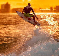 Splash at sunset (Graham Ezzy) Tags: surfing qld snapperrocks canon5dii rememberthatmomentlevel1 rememberthatmomentlevel2 rememberthatmomentlevel3