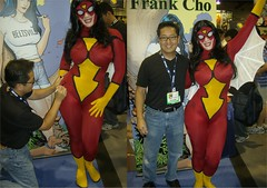 Frank Cho signing (BelleChere) Tags: frank costume cosplay cho spiderwoman