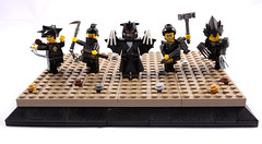 Black Temple Weapon Masters (Hammerstein NWC) Tags: lego ninja chain bow demon warriors samurai archery fighters archer weapons daemon hammers tigerclaw fightingmonk ninjaclaw weaponmasters kasurigama easternwarriors riceflail