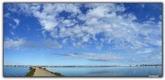 Clouds...in Spain (clevernails) Tags: blue red sea sky panorama reflection love weather clouds way spain withe walk saturday explore relaxation turist supershot abigfave anawesomeshot impressedbeauty natureselegantshots salinasdelopagan