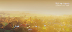 (rh89) Tags: autumn light sunset panorama orange mist fall yellow landscape golden countryside nikon cathedral pano hour flare ely cambridgeshire 55200 d5000