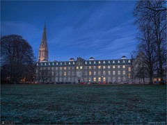 St. Mary's House at Nightfall (Remastered) (bbusschots) Tags: ireland history church night frost maynooth hdr kildare localhistory historicbuilding photomatix tonemapped spcm exposureblended topazadjust topazdenoise