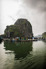 sailing by (mephistofales) Tags: southeastasia fishermen vietnam fishin halongbay indochine indochina catbaisland floatingvillages