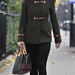 Pippa Middleton toting dual colour Loewe Amazona bag